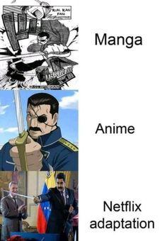 Finally, Netflix do something right Stupid Memes, Dankest Memes, Funny Memes, Hilarious, Anime Mems, 鋼の錬金術師 Fullmetal Alchemist, Pinterest Memes, Otaku Meme, Manga Anime