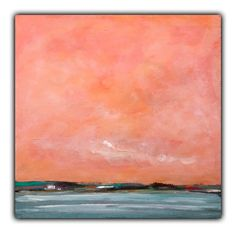 wood wall art abstract landscape Ocean Sunset sky by WoodScapeArt