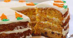 Šťavnatá mrkvová torta s jemným krémom je ako stvorená k popoludňajšej šálke čaju. Vyskúšajte ju tiež! Mrkvová torta, dezert, zákusok z mrkvy, postup recept