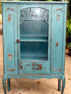 Antique Hutch Painted by junkyardpaiting