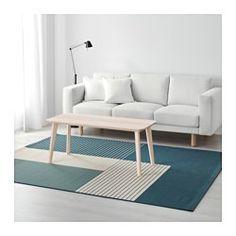 IKEA - ROSKILDE, ラグ 平織り, 表面がフラットなので、椅子の出し入れがしやすく、掃除機もスムーズにかけられます。リビングルームやダイニングルームに最適です雨や日焼け、汚れに強いので、屋外での使用に最適です