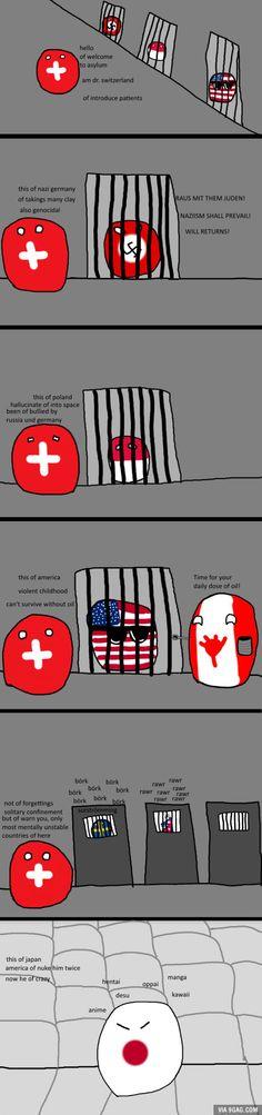 Countryballs: Mental Asylum
