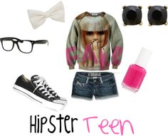 """Hipster Teen"" by classyinpink on Polyvore"