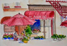 Watercolors by Joan 2: 44th Worldwide Sketchcrawl