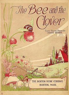The Bee and the Clover vintage sheet music