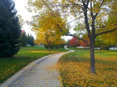 Loveland, Colorado in the fall.   Many neighborhoods have wonderful walking trails winding through them.