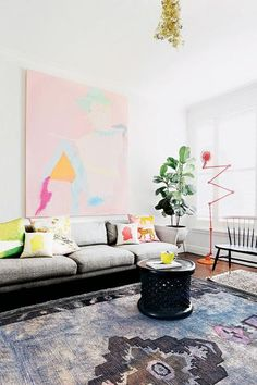 Living Loud: 8 Bright Colourful Spaces from insideout.com.au. Styling by @mrjasongrant1. Photography by Derek Swalwell.