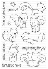 A6 clear stamp set comprising 14 separate stamps. Coordinates with Nutty But Nice Die Collection - sold separately. Inspiration for this set can be found here. Measurements (all approximate): Large Jumping Squirrel - 30mm x 55mm, Small Jumping...