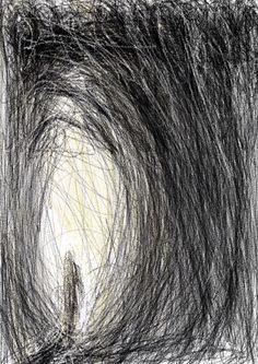 IPad study, encounter, Wakefield Artist Tim Burton.