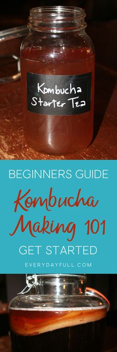 HOMEMADE KOMBUCHA 101 - This probiotic beverage is gaining mainstream popularity, but the price tag for a bottle of store bought kombucha is costly. This homemade version is affordable and so easy to make. Trust me, if you can make tea, you can make kombu