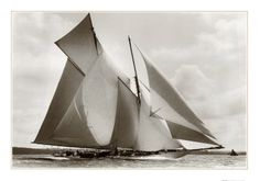 black and white pics of sailboats | Frank Beken: The Schooner Suzanne, black-and-white photograph