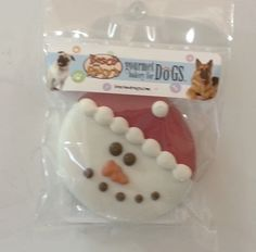 Dog Cookie- Snowman from Bosco and Roxy's