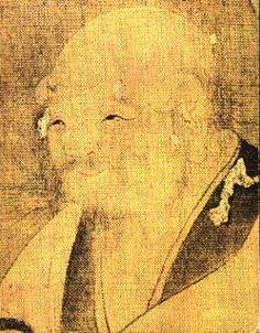 Lao Tzu  (604 B.C.-517 B.C.)  Chinese silk painting,  British Museum