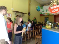 Busy day in disfrutas ! Every seat is filled :) love those disfrutas smoothies