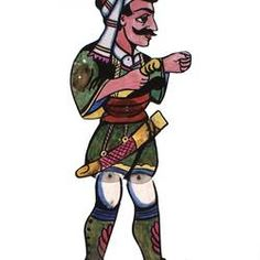 Greek Shadow Puppet Theatre - History Theatre Stage, Puppet Theatre, Puppet Making, Popular Artists, Costume Hats, Shadow Puppets, Cultural Diversity, North Africa, Greek Soldier