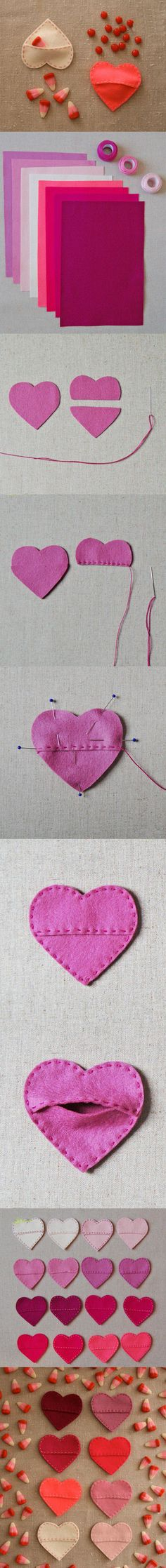 DIY Fabric Hearts diy craft crafts easy crafts craft idea diy ideas home diy easy diy home crafts diy craft diy hearts craft heart home craft