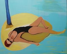 "Saatchi Art Artist Maria Mathamel; Painting, ""Swim"" #art"