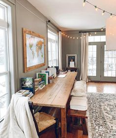 Take a tour of The Simple Farmhouse room by room. Home Learning, Cozy House, Decoration, Home Office, Small Spaces, Family Room, Homeschool, Sweet Home, New Homes
