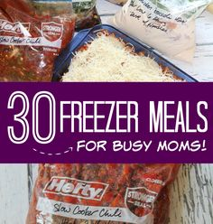 I thought I would put together a list of 30 Freezer Meal Ideas for Busy Moms because I know we're all on the hunt for some of the best recipes and it's always fun to try something new!