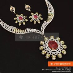 Spectacular Diamond Necklace Set perfect for any occasion.