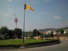 Estelada a l'entrada de Vilassar de Dalt