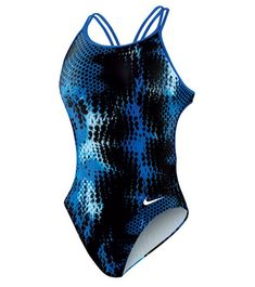 Nike Swim Foil Static Attack Spider Back One Piece Tank Swimsuit at SwimOutlet.com - The Web's most popular swim shop