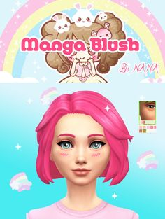 Manga Blush by NANA at Nolween • Sims 4 Updates