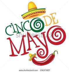 Cinco De Mayo hand drawn lettering design EPS 10 vector royalty free stock illustration perfect for advertising, poster, announcement, invitation, party, greeting card, fiesta, bar, restaurant, menu