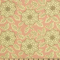 City Girl Large Chrysanthemum Pink/Chocolate