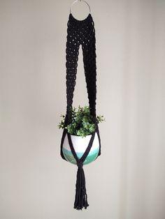 Bohemian Decor, Boho, Cotton String, Macrame Plant Hangers, Black And White, Studio, Unique, Garden, Etsy