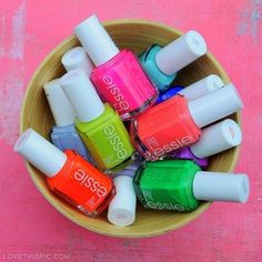 Oh, you know thats casual. A bowl of Essie Nail polishes out in the open... *casually steals with slight giggle*