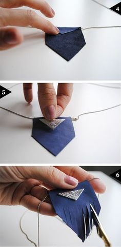 Jessica Robelo shows you how to make cute finger Leather necklaces #leather #tutorial #howto
