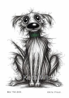 Ben the dog Print download by KeithMills on Etsy