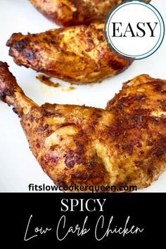 Spicy low carb chicken is juicy, flavorful, and is bursting with flavors. Made with a homemade piri piri sauce that is light and healthy, it's a must try dish. The lemon gives it a tangy flavor that is downright irresistible. You can use chicken leg quarters, thighs, legs, or even breasts to make this tasty meal.