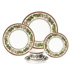 Spode Christmas Rose 5 Piece Place Setting
