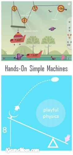 Hands-on engineering for kids with simple machine examples. Kids design and change the simple machines, and see the changes' impact on actions. A great STEM app for anyone who'd like to explore physics.