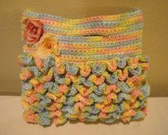 Crochet Tote Bag  My Little Shabby Chic by kathyskrochetnook, $26.00