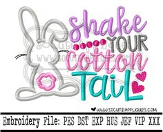 Easter Embroidery design 4x4 5x7 6x10 Shake by SoCuteAppliques