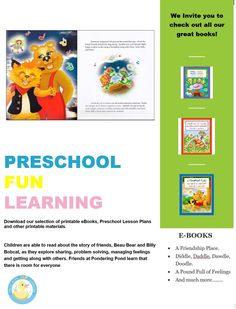 Preschool Fun Learning E Books For Toddlers And Preschoolers Preschoolfunlearning