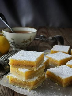 Citronové řezy – The Olive Lemon Bars, Cornbread, Food And Drink, Ethnic Recipes, Lemon, Millet Bread, Corn Bread
