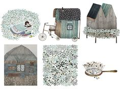 @Anna Totten Totten Totten Totten-Emilia Laitinen Anna Emilia Laitinen feature on @Design*Sponge  -- drawings and sketchbook sneak peek!