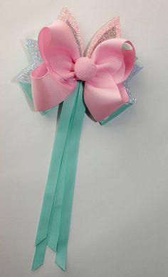 Girl s pink glitter hair bow pink glitter bow glitter hair bow glitter bow ears glitter bow pink bunny ear glitter hair bow bunny ears Sprinkle Of Glitter, Glitter Girl, Glitter Hearts, Purple Glitter, Dark Purple, Pink Hair Bows, Ribbon Hair Bows, Diy Ribbon, Boutique Hair Bows