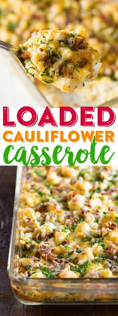 Loaded Cauliflower Casserole Recipe Cheesy Cauliflower Casserole Baked Cauliflower Dinner Easy Cauliflower Casserole Use smoked beef for muslim! Diet Recipes, Cooking Recipes, Healthy Recipes, Recipies, Healthy Dinners, Recipes Dinner, Easy Recipes, Cheap Recipes, Cooking Rice