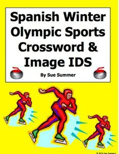 Spanish Winter Olympic Sports Crossword Puzzle and Vocabulary by Sue Summers - 15 sports clues and 15 images to identify. Spanish Olympics.