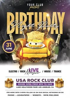 Download the Free Birthday Night Party Flyer Template!