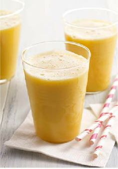 Pineapple-Orange-Mango Smoothie – You can't put sunshine in a glass. You can, however, harness tropical mango, pineapple and orange flavors to make this Hawaiian-style smoothie.