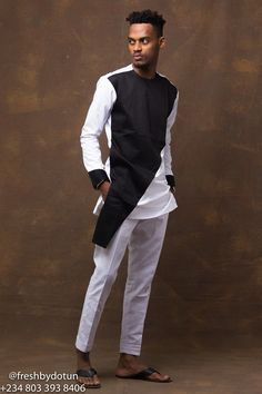 Its 2017 and Nigerian men are quickly upping their fashion games. The top designers are releasing catalogs of outfit styles for men. Some are catching our attention while other are downright wack. African Wear Styles For Men, African Dresses Men, African Clothing For Men, African Shirts, African Attire, Nigerian Men Fashion, Indian Men Fashion, Africa Fashion, Male Fashion