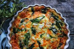 Spinach, Cheddar and Feta Crustless Quiche – SIMPLY BEAUTIFUL EATING