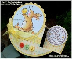 Instead of Ironing Blogspot: Circular Side Step Easter Penny Black card