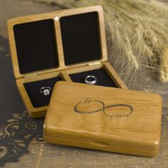 Infinity Wood Ring Box